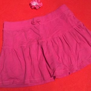 Girls pink skirt with attached short